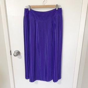 Vintage Bianca Pleated Accordion Skirt, Purple 12